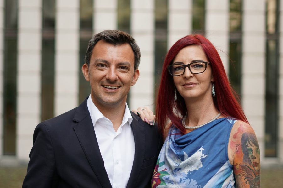 Martin Staudinger und Manuela Lang.